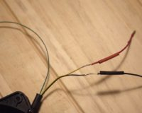 solder the according wires together and cover the parts with shrink-tubes